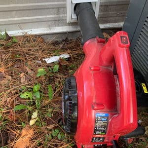 Can you clean a dryer vent with a leaf blower?